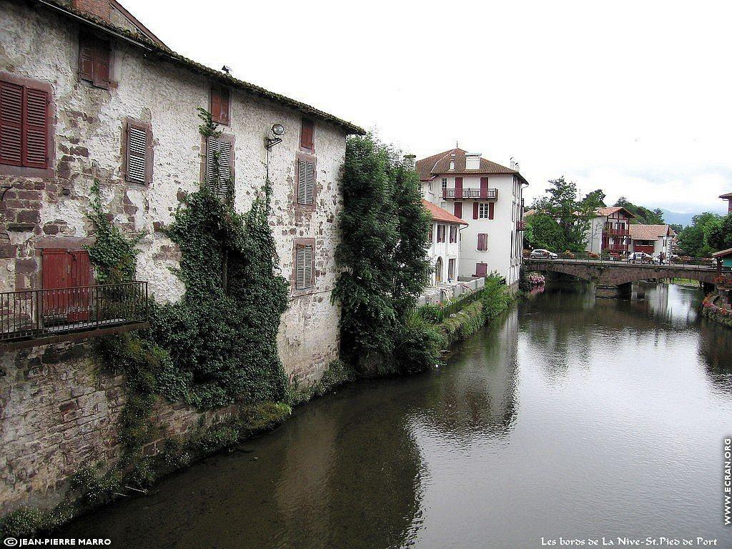 Fond d 39 cran de saint jean pied de port pays basque par jean pierre marro 0001 - Sud ouest saint jean pied de port ...